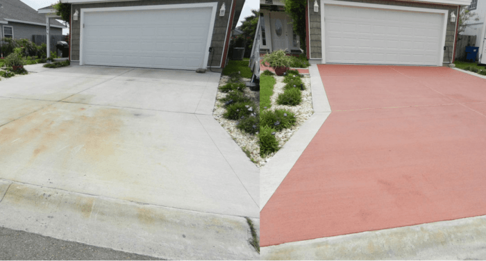 Concrete Driveway resurfacing-Treasure Coast Concrete Services Pros-We do concrete services, concrete underlayment & overpayment, polishing, decorative, stamped, stained, sealed, concrete grinding, Stucco installation, EIFS repair, new construction concrete pouring, epoxy floor finishing, concrete repair, commercial concrete contracting work, and more