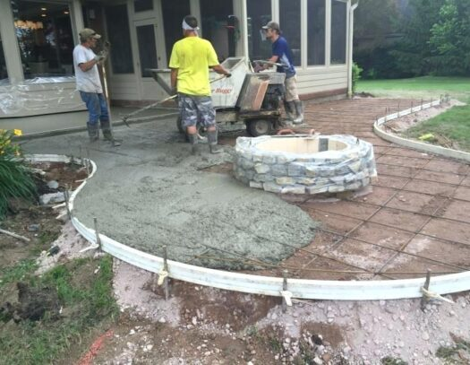 Patio Concrete-Treasure Coast Concrete Services Pros-We do concrete services, concrete underlayment & overpayment, polishing, decorative, stamped, stained, sealed, concrete grinding, Stucco installation, EIFS repair, new construction concrete pouring, epoxy floor finishing, concrete repair, commercial concrete contracting work, and more